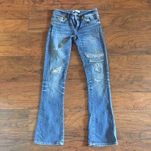 """Zara 1975 Distressed Jeans Sz 34 30x33"""""""